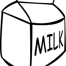 Picture of Milk Carton Coloring Page