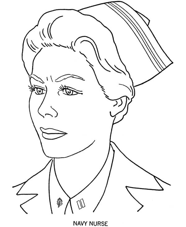Picture of Navy Nurse Coloring Page