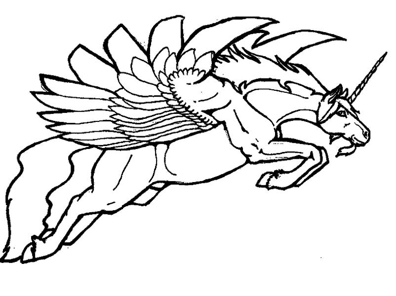 Picture of Pegasus Coloring Page