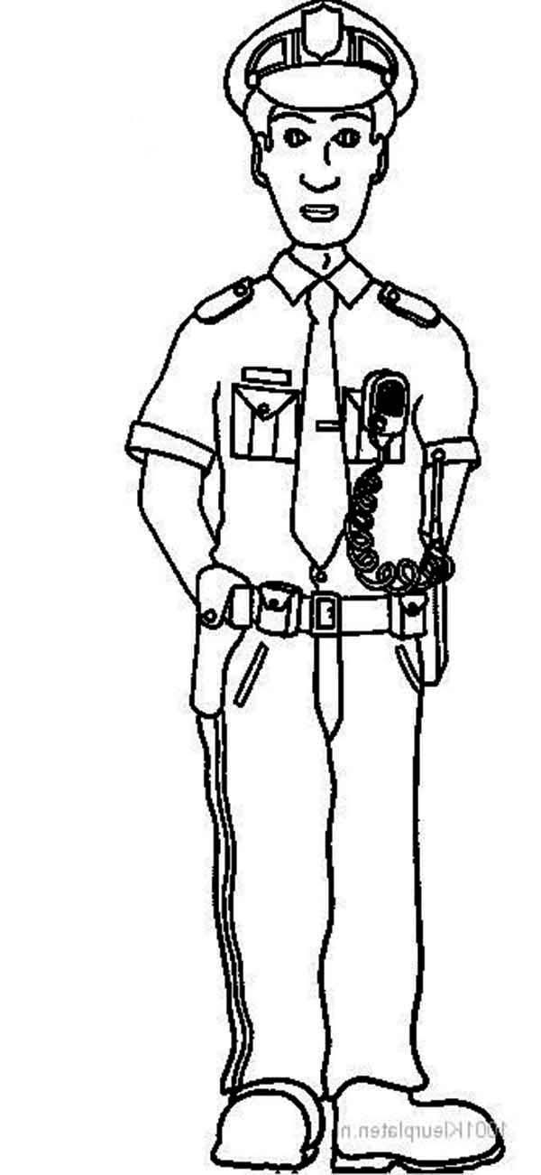 Picture of Police Officer Coloring Page
