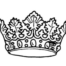 Picture of Princess Crown Coloring Page