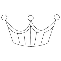 Platinium Princess Crown Coloring Page