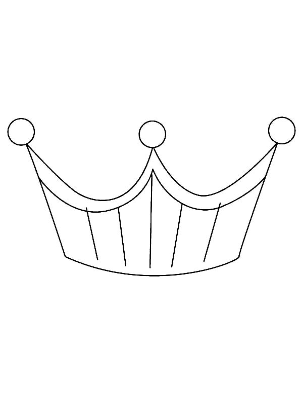 Platinium Princess Crown Coloring Page Netart