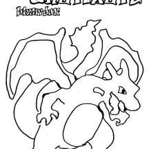 Pokemon Charizard Coloring Page