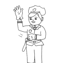 Police Officer Manage Traffic Coloring Page