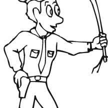 Policeman Protecting People from Criminals in Community Helpers Coloring Page