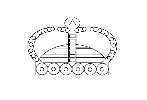 Priceless Princess Crown Coloring Page
