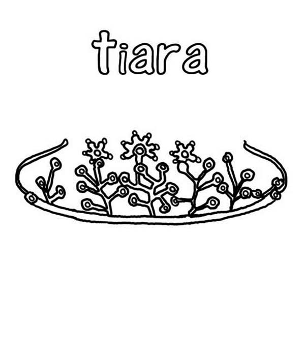 Princess Crown Collection Coloring Page