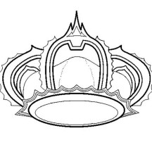 Princess Crown for Princess Wedding Coloring Page