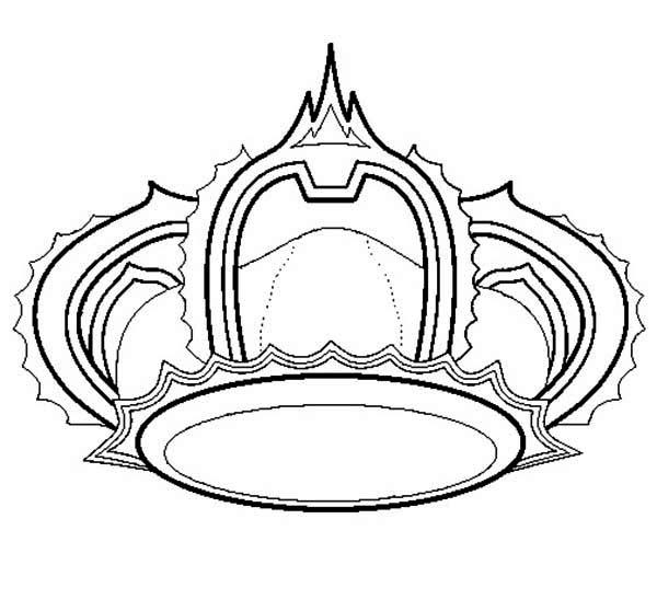 Princess Crown for Princess Wedding Coloring Page