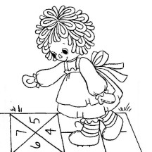 Raggedy Ann Counting Number in Raggedy Ann and Andy Coloring Page