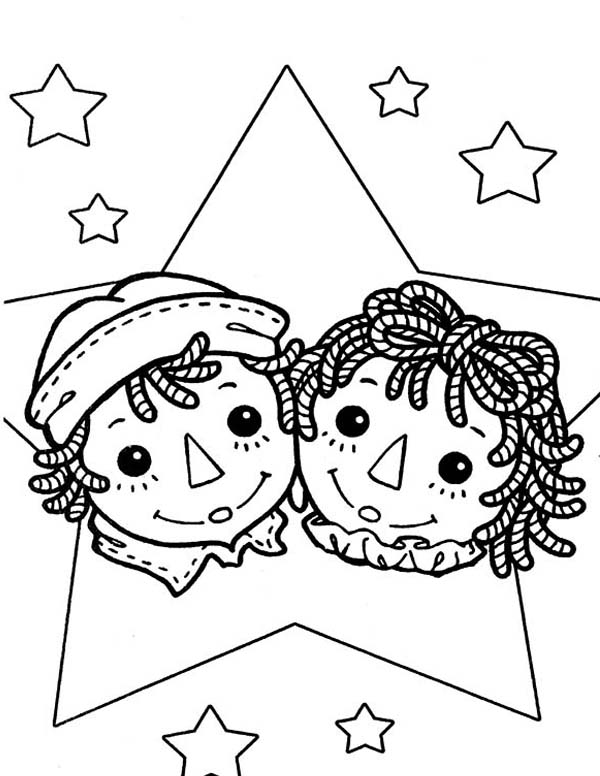 Raggedy Ann And Andy Coloring Page - NetArt