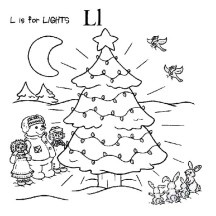 Raggedy Ann and Andy Making Christmas Tree Coloring Page