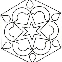 Rangoli for Festival of Light Coloring Page
