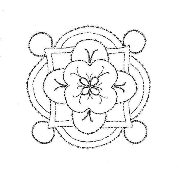 Rangoli for Hindu Festival Coloring Page