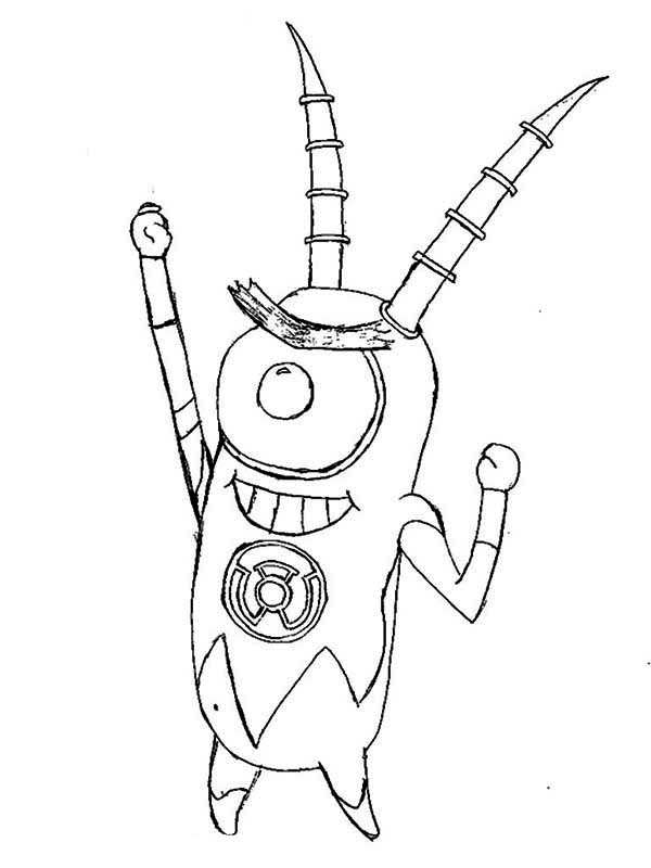 robot plankton coloring page netart. Black Bedroom Furniture Sets. Home Design Ideas