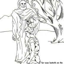 Samuel Anointed David as a King in the Story of King Saul Coloring Page