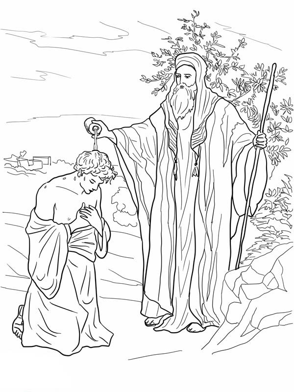 King saul coloring pages for kids ~ Samuel Anoiting Saul as King in King Saul Coloring Page ...
