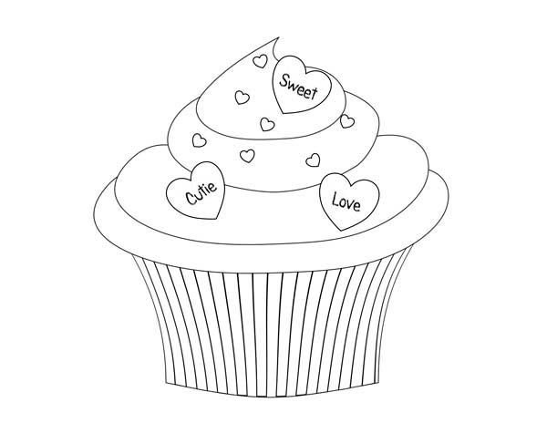 leaf coloring pages images cupcake - photo#28