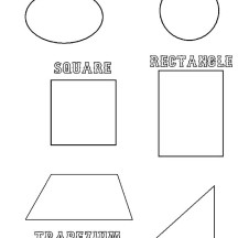 Shapes All Around Us Coloring Page