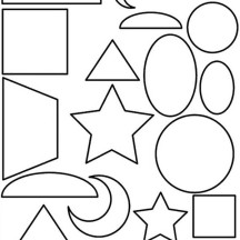Shapes Lesson for Kid Coloring Page