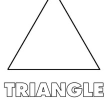 Shapes of Triagle Coloring Page