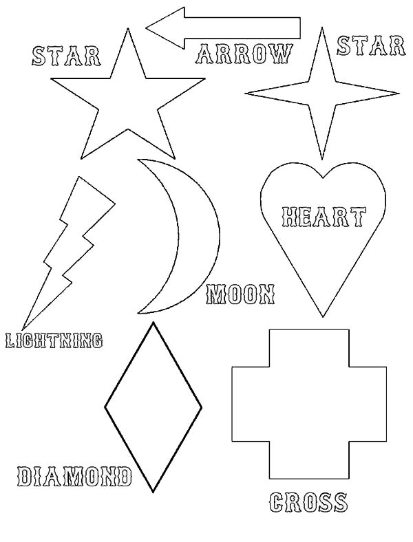 Simple Shapes of Legends Coloring Page