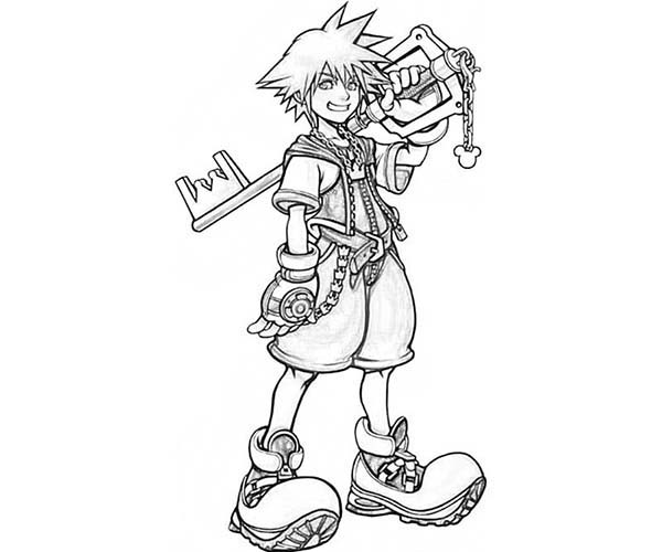 Sora Big Smile Coloring Page