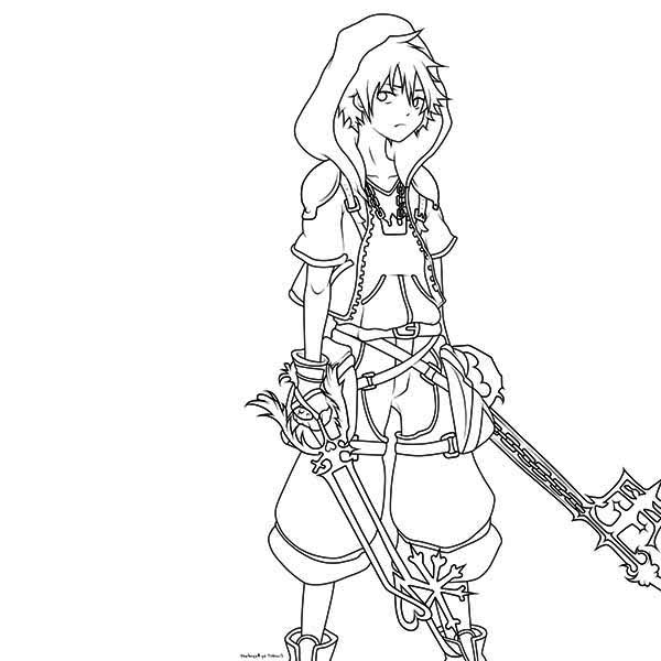 Sora Coloring Page for Kids