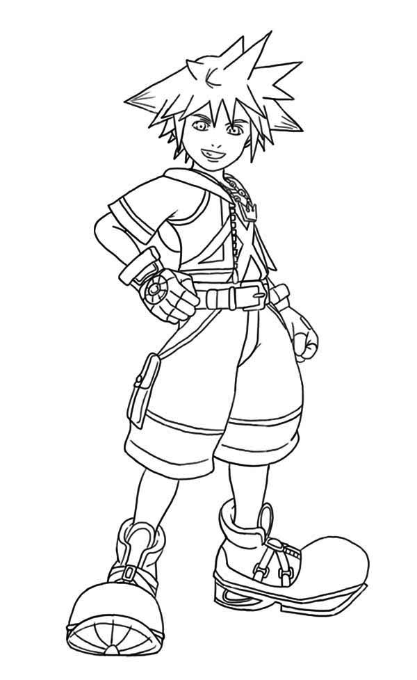 Sora Laughing Coloring Page NetArt