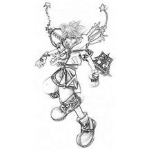 Sora Ready to Fight Coloring Page