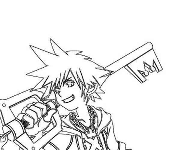 Sora and Awesome Keyblade Coloring