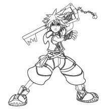 Sora is Keyblade Wielder Coloring Page