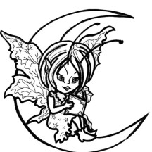 Spreading Pixie from the Moon Coloring Page