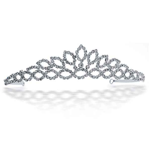 Sterling Silver Tiara Morning Dew In Princess Crown