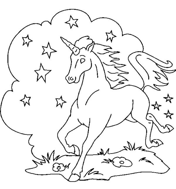 Strong Pegasus Coloring Page