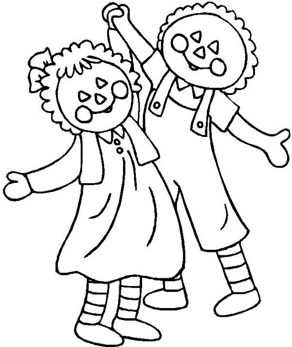 The Adventure of Raggedy Ann and Andy Coloring Page
