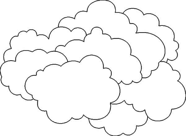 The Clouds is So Heavy Coloring Page