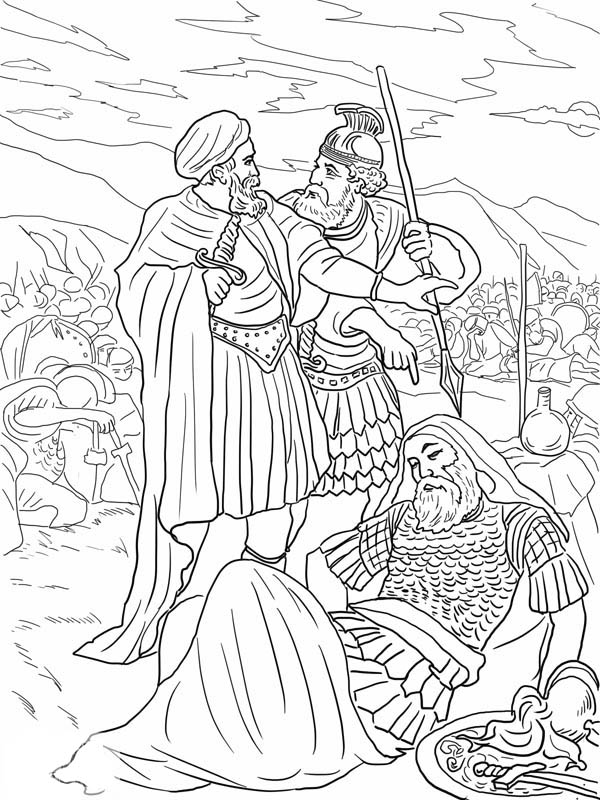 coloring pages for king saul - photo#22