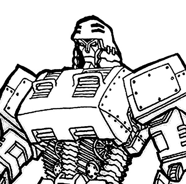 The Evil Master Megatron Coloring Page