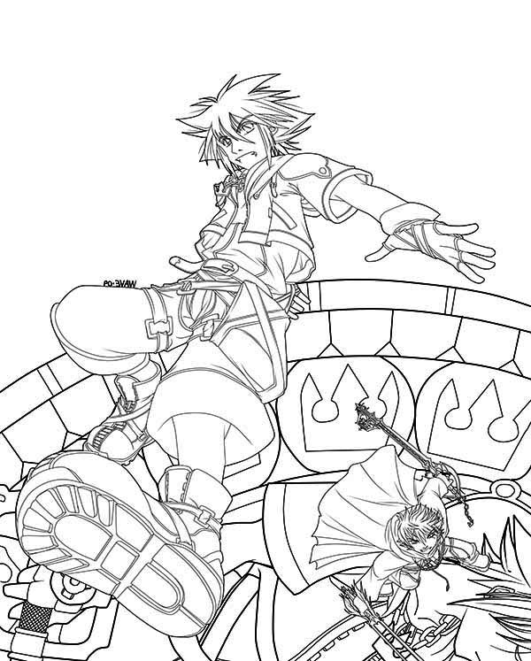 The Fight of Roxas vs Sora Coloring