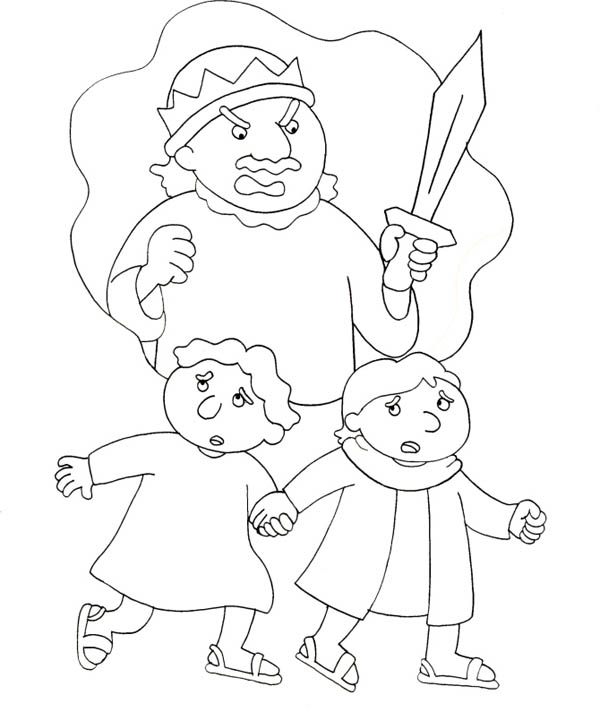 The Story of King Saul Coloring Page