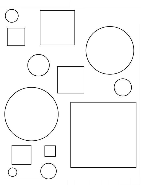 The Very Basic of Shapes Coloring Page