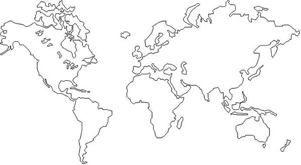 - The World Map Coloring Page - NetArt