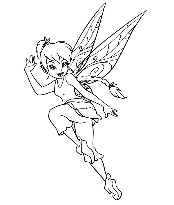Tinkerbell Jump in Pixie Coloring Page