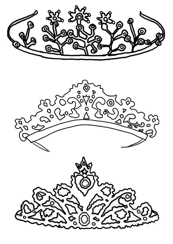 Type of Princess Crown Coloring Page