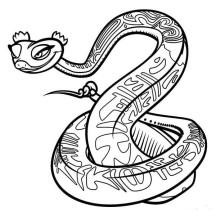 A Serpent from the Ancient China Mythology Coloring Page
