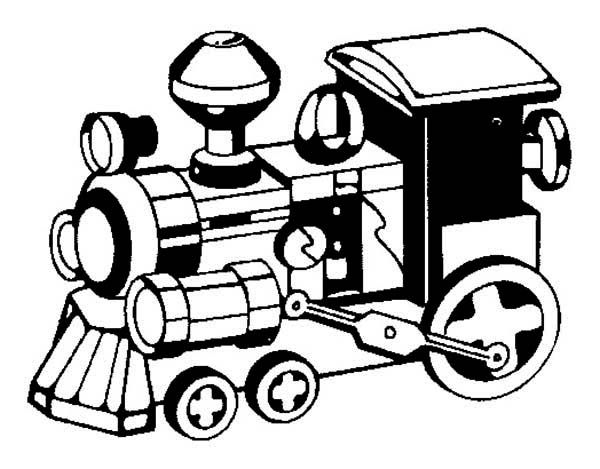 Amazing Model Steam Train Coloring Page