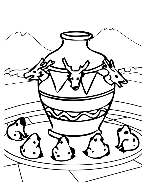 An Ancient China Seismoscope Coloring Page