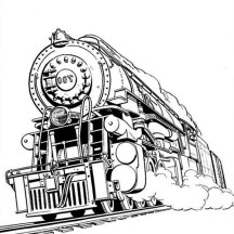 Awesome Steam Train Coloring Page